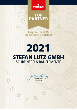 Urkunde weinor Top-Partner 2021